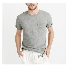 Camisa Camiseta Abercrombie Manga Curta - Hollister 04993c13e0c47