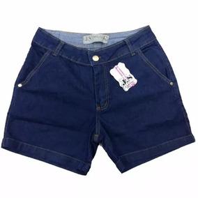 Bermuda Jeans Feminina Com Lycra Roupa Feminina