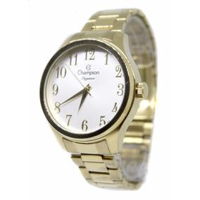 133e6d07785 Relógio Feminino Champion Dourado Cn27518h Fretegratis