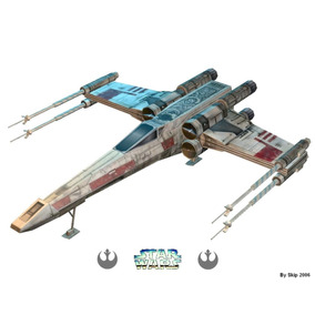 Nave Star Wars X Wing Papercraft Cortar Colar E Montar