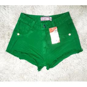 Short Shortinho Color Verde Tamanho 36 Roupa Feminina