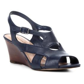 Sandália Anabela Shoestock Tiras Vazadas Feminina
