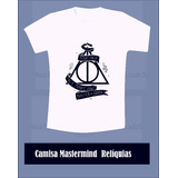 Camisa Camiseta Harry Potter 4 Casas E Reliquias Da Morte