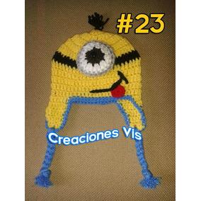 5a1b07c335da5 Gorro Minion Mi Villano Favorito Tejido Crochet Varios Mods.