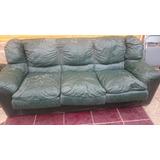 Sofa 100% Cuero 3 Cuerpos