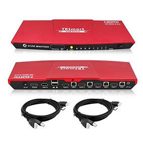 Tesmart Hdmi 4k Ultra Hd 4x1 Hdmi Kvm Interruptor De 3840x21