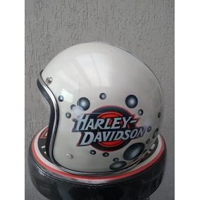 Capacete Old School Harley Davidson Vintage Bober Café Racer