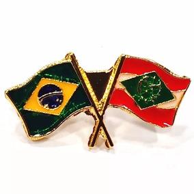 Pim Bótom Broche Bandeira Estado De Santa Catarina Folheado