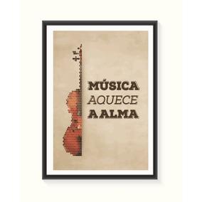 Pôster Musica Aquece A Alma - Médio