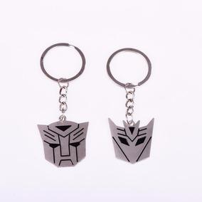 2 Chaveiros Filme Transformers Decepticon E Autobot Em Metal