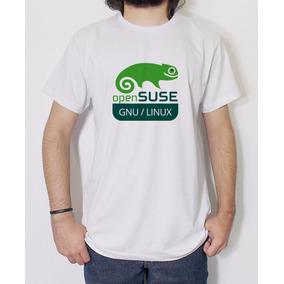 Camiseta Masculina Linux Opensuse Ubuntu Fedora Debian