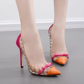 Sapato Feminino Moderno Transparente Social