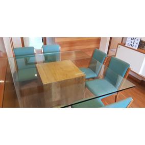 Linda Mesa De Vidro Com 6 Cadeiras Muito Barato
