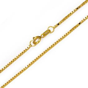 Colar Malha Veneziana 40cm Em Ouro 18k