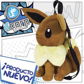 Peluche Eevee Mochila Pokemon Bolsa Backpack Pikachu
