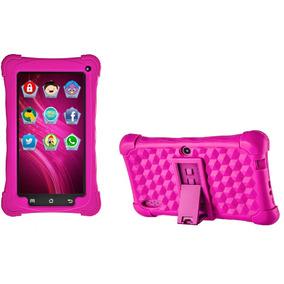 Tablet Kid Pad Rosa Com Capa Emborrachada Android 7 Mondial