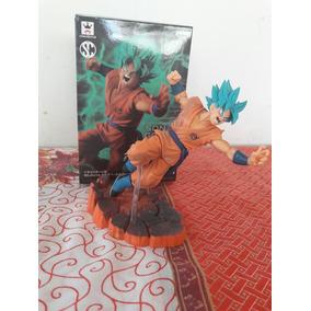 Boneco Action Figure Goku Deus (blue, God) Com Caixa.