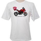 Camiseta Motocicleta Ducati Multistrada 1200 Vermelha
