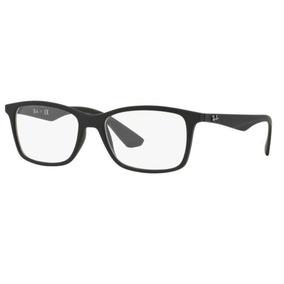 c2a9466420ef5 Armação Oculos Grau Ray Ban Rb7047l 5196 56mm Preto Fosco. R  279