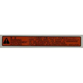 Etiqueta Alerta Motor Ventoinha Radiador Vw Gol Voyage