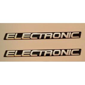 Par Emblemas Adesivo Resinado Electronic Uno Mille Fiat