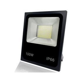 Refletor Led 100w Holofote Bivolt Prova Dágua Ip66 Quente