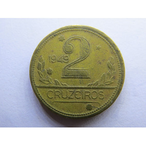 Arremate Moeda 2 Cruzeiros 1949 - Mapa Duplo - Lote Ref 0019