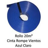 Cinta Rompeviento Azul Claro Para Malla Ciclonica 20m2 Ac20