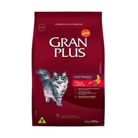 Ração Granplus Gatos Adultos Castrados Carne E Arroz - 10,1k