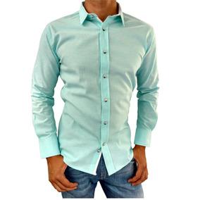 Camisa De Vestir Casual Moderna Para Hombre Slim Fit
