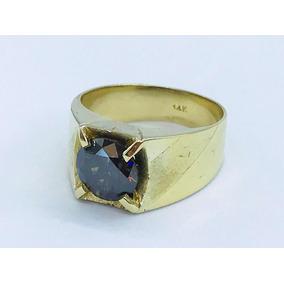 Anillo Para Caballero Con Diamante Negro 9.7 G De Oro De 14k