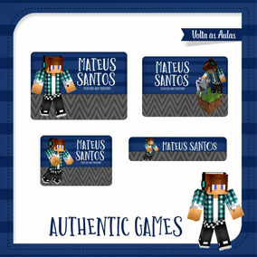 25 Etiquetas Escolares Authentic Games