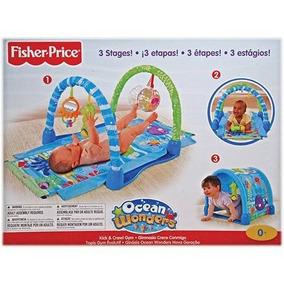 Tapete De Atividades Fisher Price Ginásio Ocean 3 Em 1