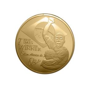 Pelé-santos-medalha-moeda Comemorativa-campeão Mundial