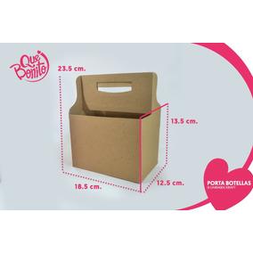 Caja Portabotellas Porta Cervezas Artesanales Carton Kraft