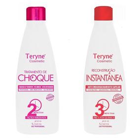 6 Tratamento De Choque Teryne + 6 Anti-emborrachamento