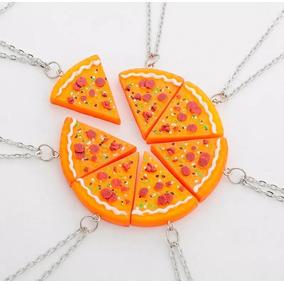 b85ef7b7bae Kit Com 9 Colar De Pizza Cordão Melhores Amigos Best Friends