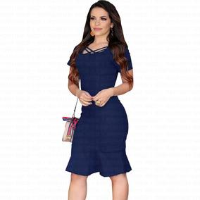 Vestido Jeans Moda Evangélica Midi Com Babado Blogueiras Vip