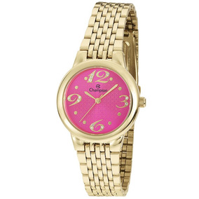 59c0f9d08f4 Relogio Dourado Fundo Rosa Pequeno - Relógios De Pulso no Mercado ...