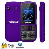 Celular Bright One 0417 Roxo- Novo Na Caixa, Completo