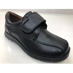 Zapato Escolar Negro Niño Contactel 17.5 A 21
