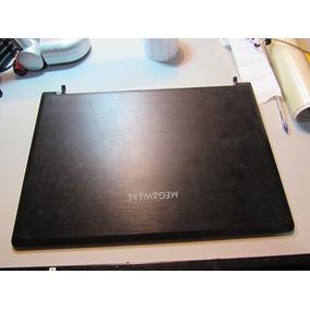 Carcaça Tampa Led E Dobradicas Notebook Megaware Meganote