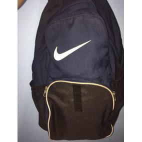 Mochila Grande Nike Original Preta E Azul