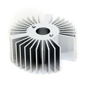 Dissipador Redondo Diâmetro 53mm Altura 22mm Liga Alumínio