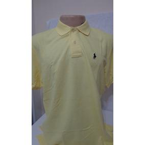 713073dfa2 Camisa Polo By Ralph Lauren Amarelo Tam Gg-