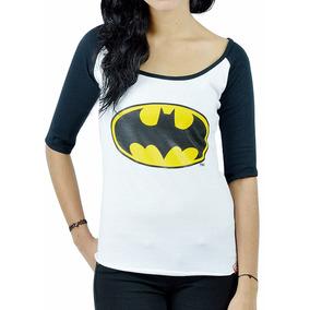 Blusa Raglan Dc Comics Logo De Batman Bruce Wayne Robin