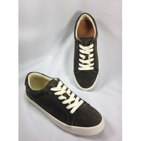 Frye Kerry Fashion Sneakers Tenis Verde Gamuza 25.5