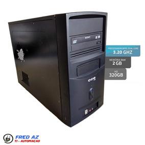 Desktop Cpu Cce Info Dual Core 3.20ghz 2gb 320gb Placa Msi