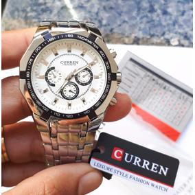Relógio Masculino Quartz Aço Inoxidável Marca Curren