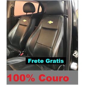 Capa P/ Banco 100% Couro Monza Tubarão Logo Da Chevrolet